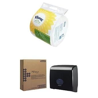 Kleenex 8573 Ultra Toilet Tissue, 150 1 capas Hojas por rollo, color blanco (12 unidades) Y Dispensador: Amazon.es: Industria, empresas y ciencia