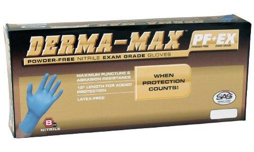 500 SAS Derma MAX Powder Free Extra Large Nitrile Gloves 8 mil XL by GPD