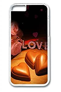 Chocolates And Roses Slim Soft Cover Case For Iphone 4/4S Cover PC Transparent Cases