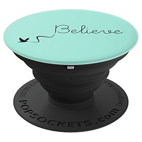 Inspirational Quote Cute Believe With Bird - PopSockets Grip and Stand for Phones and Tablets
