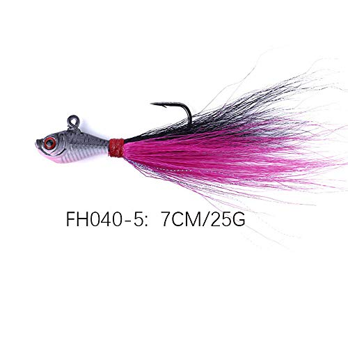 Dream-SZ Fishing Lures for Bass,Freshwater That Rattle Bass Saltwater Trout Walleye Redfish Sea Fishing Tying Lead Hooks Fish Head Lead Beard Carp Bait Fishing Gear for JIG