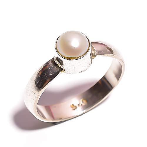 Gem Pearl Biwa - mughal gems & jewellery 925 Sterling Silver Ring Natural Biwa Pearl Gemstone Fine Jewelry Ring (Size 6.25 U.S)