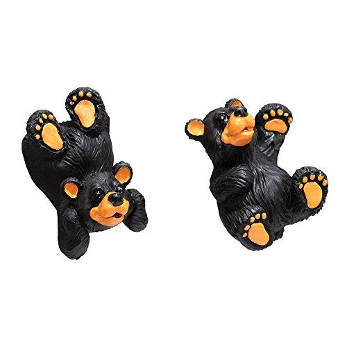Black Bear Cabin Cabinet Knobs (Set of 2) (Bear Knob Drawer Pull)