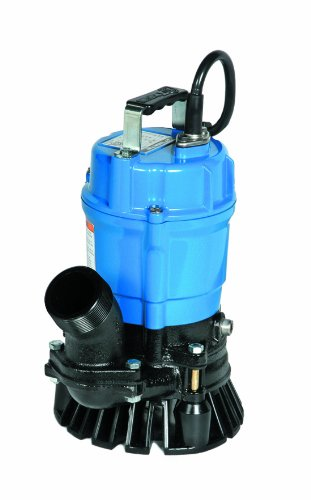 Tsurumi HS2.4S; semi-Vortex Submersible Trash Pump w/Agitator, 1/2hp, 115V, 2