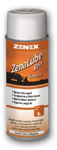 Zenex ZenaLube Red Professional Red Grease Lubricant - 12 Cans (Case)   Not for sale in California
