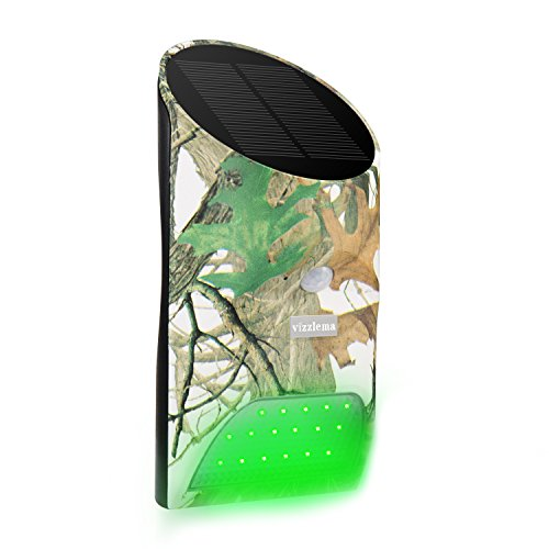 Feeder Sensor (Vizzlema Feeder Hog Light Outdoor Solar Feeder Light for hunting with Motion Sensor and Green Light for Game Animal Hunting (Camouflage))