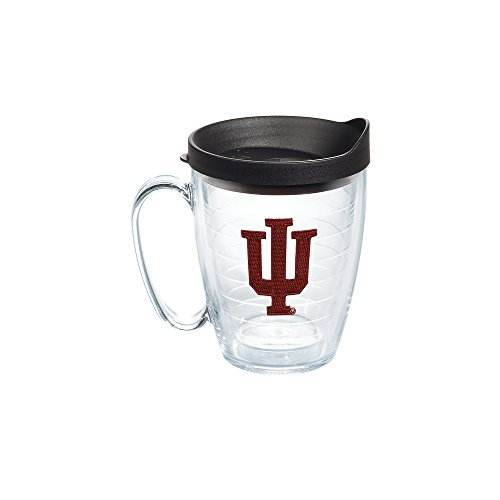 Indiana Mug (Tervis 1056666 Indiana University Emblem Individual Mug with Black lid, 16 oz, Clear)