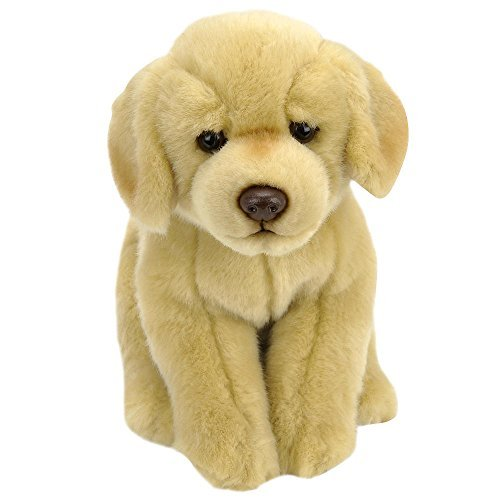Animal Alley - 9 inch Stuffed LABRADOR Tan - Ultra-Soft Fur, Chocolatey Brown Eyes and Sweet Little Ears