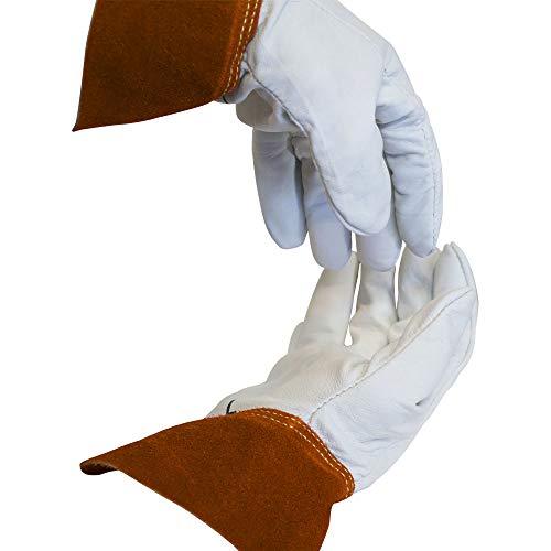 Swift Fox 514TW Tig Welders Goatskin w/Split Cowhide Cuff Made in USA Size Large by Swift Fox Safety (Image #1)
