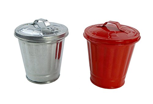 AITING Mini Curbside Trash & Recycle Can Set Pencil Cup Holder 2pcs