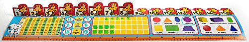 (Eureka Peanuts Math Practice Tool, Back to School Classroom Supplies, 24 Sheets, 20'' x 4.25'')