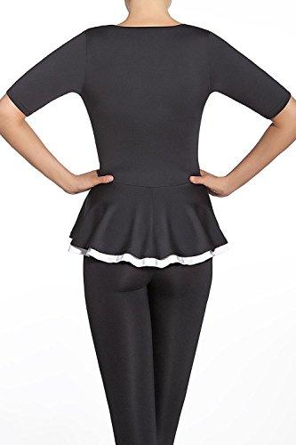 Bas Bleu Rita Camiseta De Manga Corta, 2, Negro-Blanco: Amazon.es: Ropa y accesorios