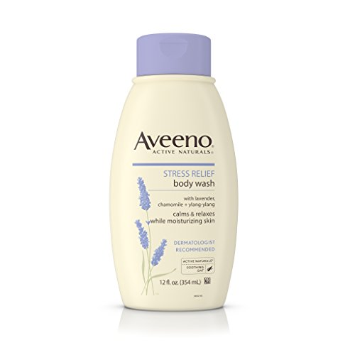 Aveeno Stress Relief Body Wash With Lavender, Chamomile And Ylang-Ylang Oils, 12 Fl. Oz. (Pack of (Lavender Gel)