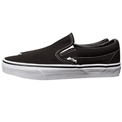 2dd2bcb3e72f Vans Classic Slip On Black White black Size  13 UK  Amazon.co.uk ...
