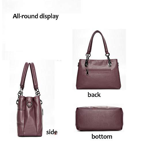 Red Borse Delle Del Progettista Donne Tote Faux Spalla Le Pelle Leather Signore Bags 6qwx7A