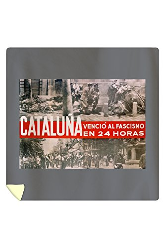 Cataluna Vencio al Fascismo Vintage Poster Spain c. 1936 (88x88 Queen Microfiber Duvet Cover) by Lantern Press