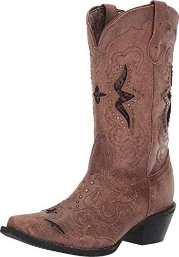 (Laredo Women's Lucretia Inlay Western Boot Snip Toe Tan 10 M)