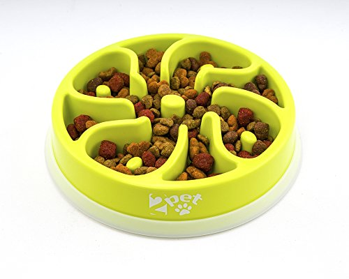 2PET Slowly Bowly, slow feed enjoyable playful dish. Prevent Bloating fun to use Dog Bowl. (Container Drop Gate)