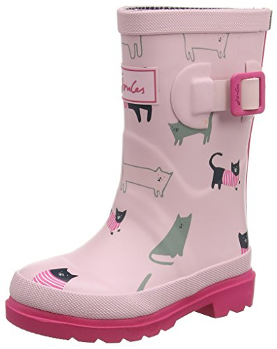Joule Jnr Flickor Welly Regn Boot (barn / Litet Barn / Big Kid) Rosa