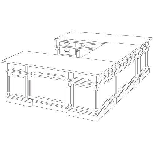 DMi Keswick Collection Single Pedestal Desk
