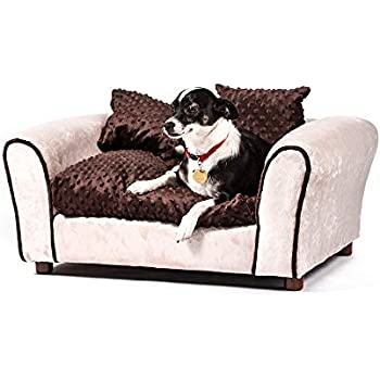 Amazon.com : Keet Fluffly Deluxe Pet Bed Sofa Charcoal