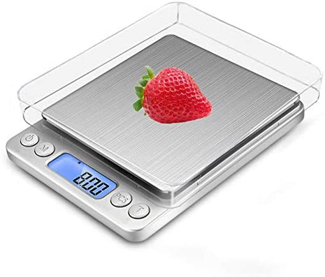Báscula Digital con dos Plato Removibles para Cocina de Alta Medición Precisa, Balanza Electrónica Digital para Cocina (0.1-3kg, Incluye dos baterías AAA): Amazon.es: Hogar