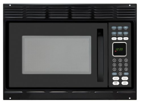 Advent MW912BWDK Black Built-in Microwave Oven with Wide Trim Kit PMWTRIM, Specially Built for RV Recreational...