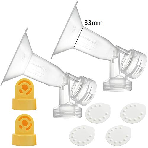 Nenesupply Compatible Pump Parts for Medela Breastpumps XX Large 33mm Breastshield Valve Membrane for Medela Pump in Style Symphony Not Original Medela Pump Parts Not Original Medela Breastshield