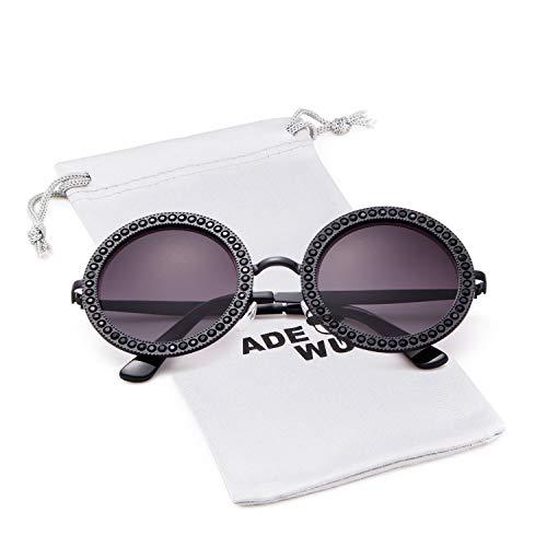 0edd1f921 Round Rhinestone Sunglasses Women Metal Frame With Crystal Shades Summer  Sun glasses