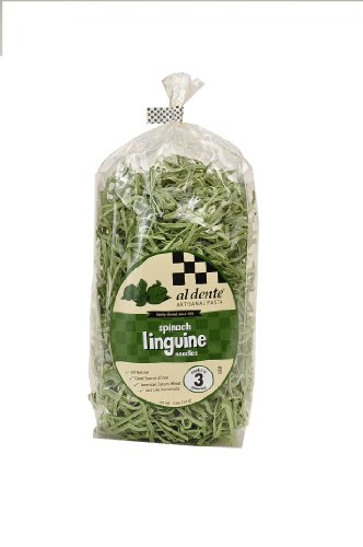 Al Dente Spinach Linguine, 12-Ounce Bag (Pack of 6) (Dried Pasta)