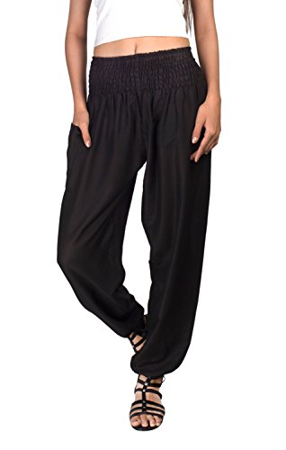 Joop Joop Bohemian Tapered Elephant Harem Loose Yoga Travel Lounge Pants (L/XL, ()