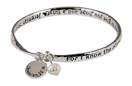 - 4030429 Jeremiah 29:11 For I Know The Plans I Have For You Twisted Bangle Scripture Bracelet
