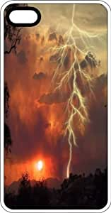 Storm Chasers Lightning Bolt Clear Rubber Case for Apple iPhone 5 or iPhone 5s by Maris's Diary