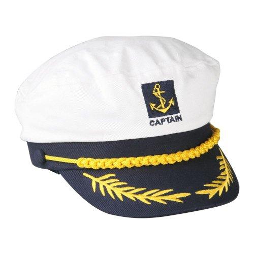 SODIAL (R) Matrose Kapitaen Muetze Marine Einstellbare Kappe Weiss