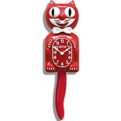 New Classic Vintage Kit-cat Klock Scarlet Red Cat Clock with Free Batteries Made in USA Official Dealer