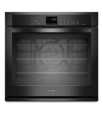 """Whirlpool WOS92EC0AB 30"""" Black Electric Single Wall Oven - Convection"""