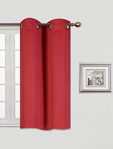 GorgeousHomeLinen (K30) 1 Panel Silver Grommets Window Curtain 3 Layered Thermal Heavy Thick Insulated Blackout Drape Treatment Size 30