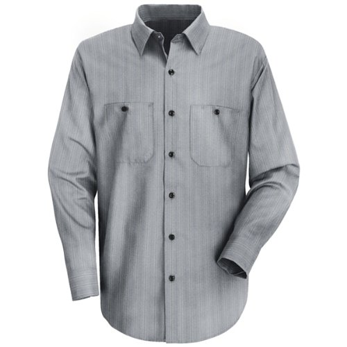 Red Kap Uniforms Men's Industrial Stripe Work Shirt, Char...