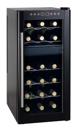 Dual Zone Thermo Electric Cooler Heating 18 Bottles