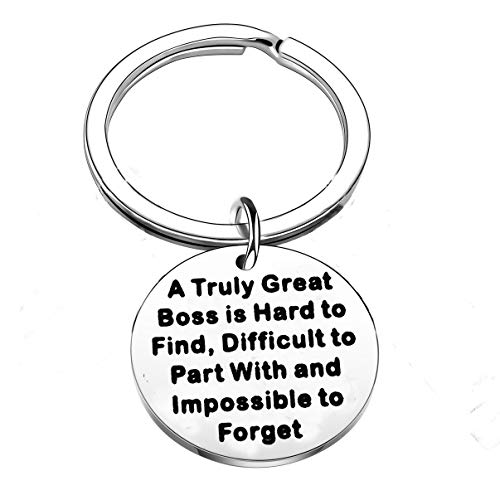 Coworker Leaving Gifts for Colleague Friend Boss Goodbye Farewell Gifts Going Away Thank You Keychain Retirement Gifts for Boss Coworkers (A Truely Great Boss)