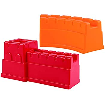 Hape Beach Toy Great Castle Walls Sand Shaper Molds Toys, Red