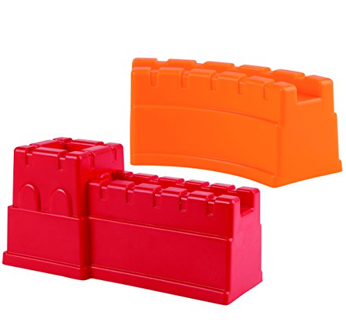 Hape Beach Toy Great Castle Walls Sand Shaper Molds Toys, Red - Old Mold