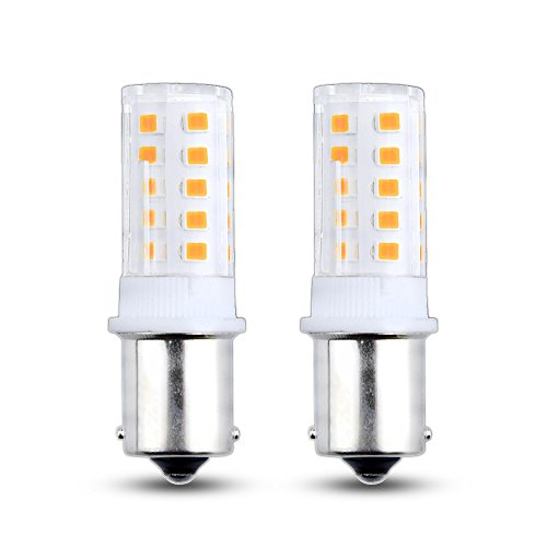 (Bonlux 24V LED 1156 1141 1003 1073 BA15S Single Contact Bayonet LED Light Bulb 3W Daylight 6000K for Boat Marine Light, RV Camper Trailer Automotive Light, Tail Light (2-Pack))