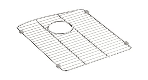 "Kohler 5662-ST Kennon Neoroc Stainless Steel Sink Rack, 13 5/8"" x 16 1/2"", for Left-Hand Bowl by Kohler"