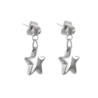 Joyas de Acero Inoxidable: Simple brillante estrella ...