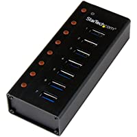 7 Port USB 3.0 Hub - Metal Enclosure - Desktop or Wall Mountable - USB 3 Hub - USB Extender - Powered USB 3.0 Hub - USB Splitter