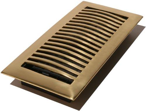 Solid Brass Louvered Register (Decor Grates HSL414 4-Inch by 14-Inch Louvered Floor Register, Solid Brass)