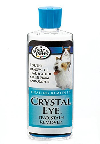 Four Paws Crystal Eye Dog Grooming Tear Stain Remover, 4 oz by Four Paws ()