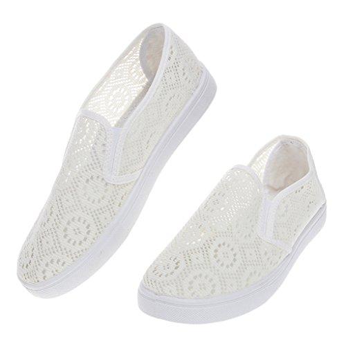 Top-Sell Desgaste De Punto Superior Hembra De Punto En El Zapato Plano Zapatos De Señoras Respirables Estupendas Mocasines 38