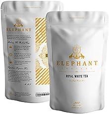 Royal White Silver Needle Tea | 60 Cups Delicious Tea | Organically Grown in Ceylon | Ceylon Silver Tip White Tea | Loose Leaf Tea | Elephant Chateau